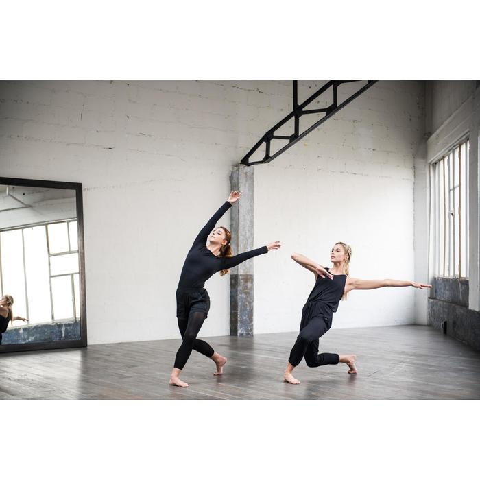 T-shirt danse moderne noir manches longues femme