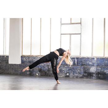 Crop top danse moderne noir femme