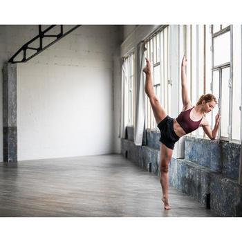 Sporttopje voor dames voor moderne dans bordeaux
