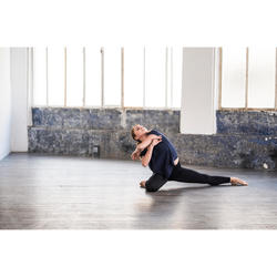 Dameslegging voor moderne dans dames zwart naadloos