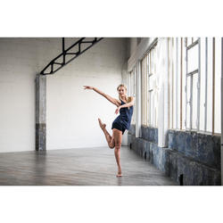 Soepel damestopje voor moderne dans marineblauw