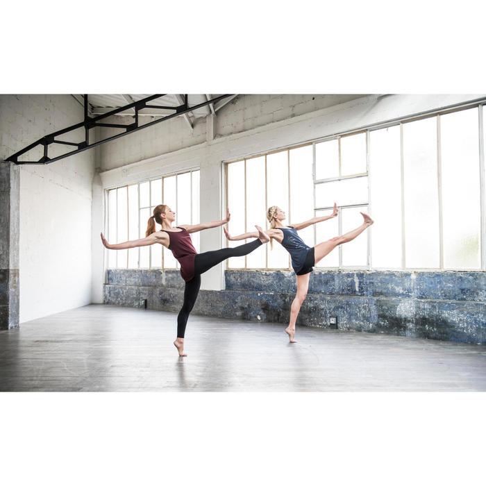 Soepel damestopje voor moderne dans bordeaux