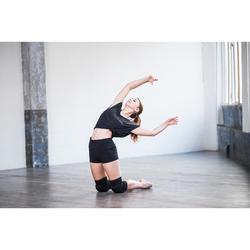 Aansluitende damesshort voor moderne dans zwart