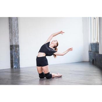 Kniebeschermers voor moderne dans en street dance dames zwart