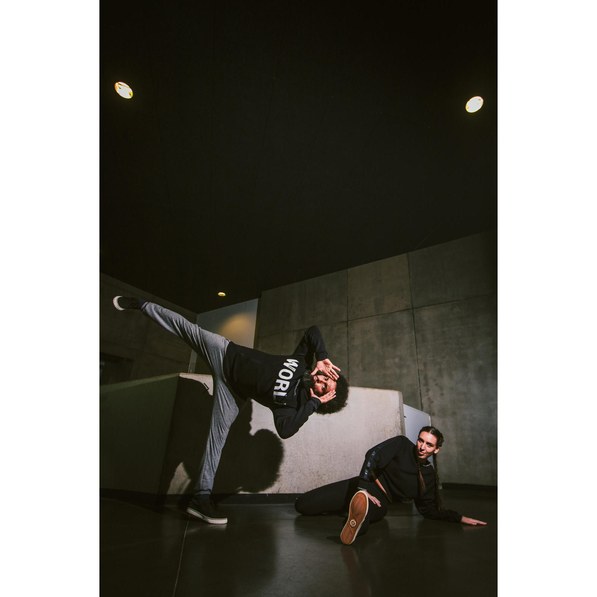 Black Cropped Hooded Hip Hop Street Urban Dance Top