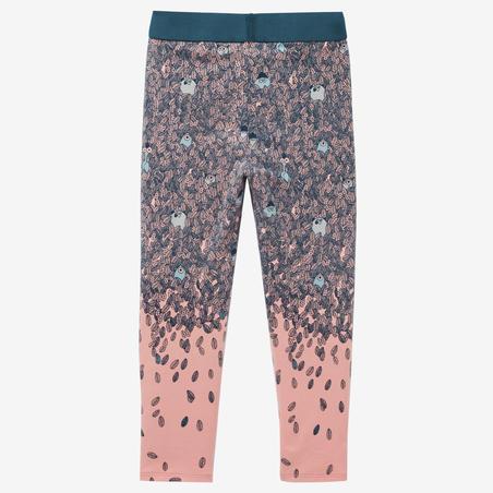 Legging Senam Bayi Perempuan 100 - Pink AOP