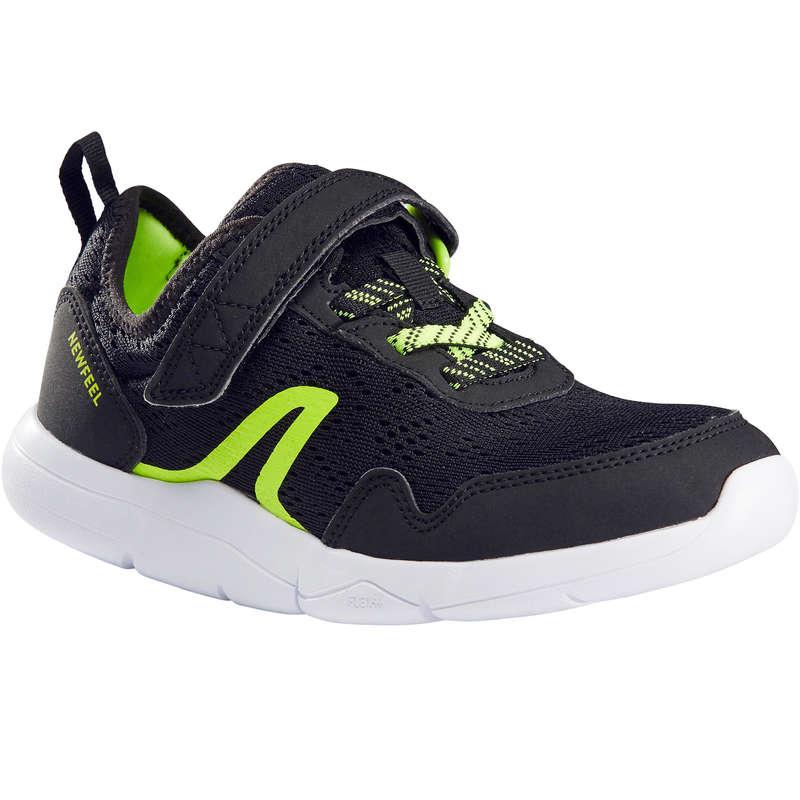 JUNIOR SPORT WALKING SHOES Hiking - Actiwalk Super-Light - blk/grn NEWFEEL - Outdoor Shoes