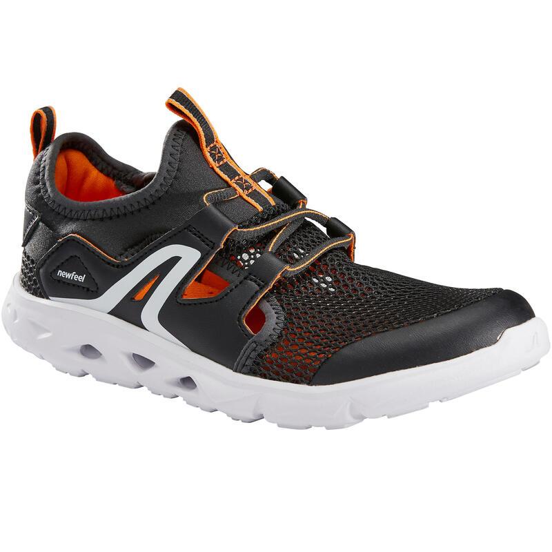 Çocuk Siyah Yürüyüş Ayakkabısı - PW500 FRESH
