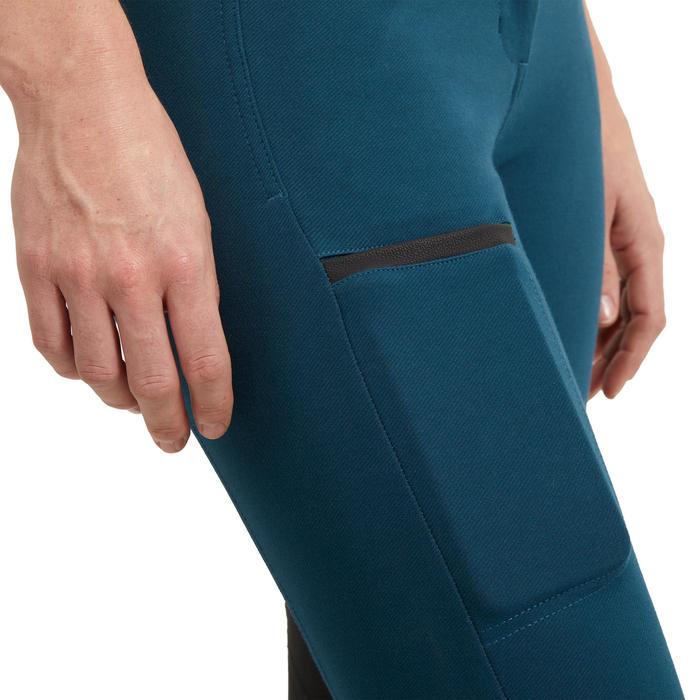 Pantalon équitation femme 150 basanes agrippantes bleu pétrole
