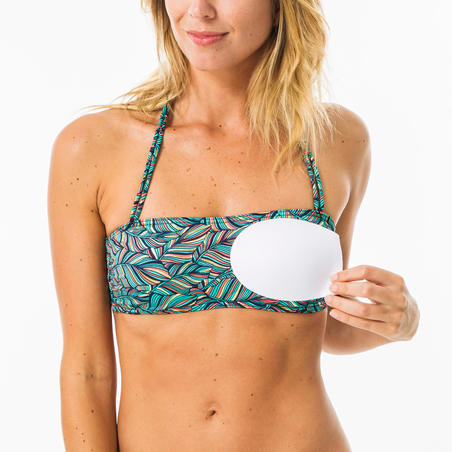 Women's bandeau swimsuit top LAURA FOLY with removable padded cups