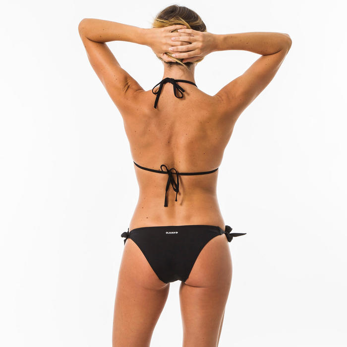 Sujetador Bikini Mae Mujer Negro Triángulos Corredizos Copas
