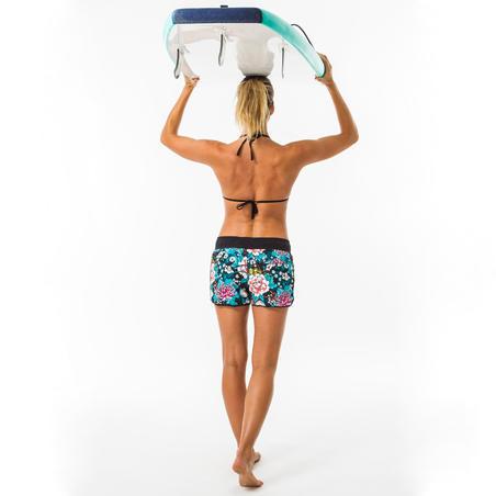 Boardshort surf femme TINI BOTAN avec ceinture élastiquée et cordon de serrage