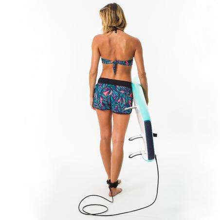 Boardshort de Surf Tini Waku Mujer Cintura Elástica Cordón Ajuste