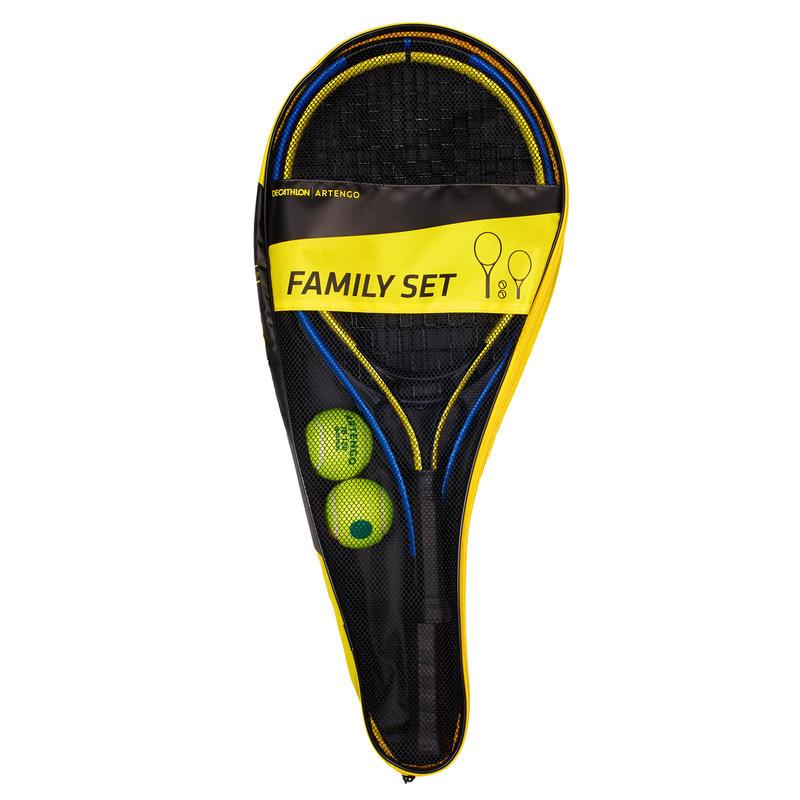 Duo Family Tennis Set - 2 Rackets + 2 Balls + 1 Bag - Decathlon