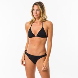 Bikinitop voor surfen Mae zwart triangel met schuifcups en pads