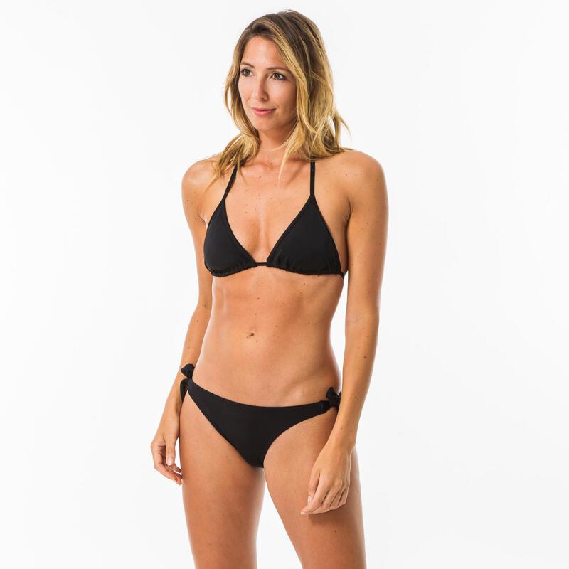 Top Bikini Triángulo Copas Desmontables Surf Mujer Olaian Mae Negro