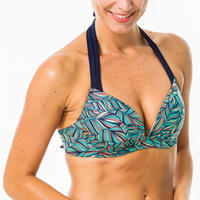 Elena Women's Push-Up Swimsuit Top with Fixed Padded Cups - Foly