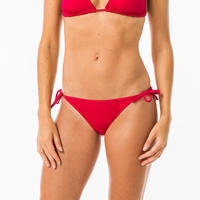 Panty Bikini Surf Olaian Lazos Sofy Roja Mujer