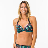 Women's push-up swimsuit top with fixed padded cups ELENA VILA