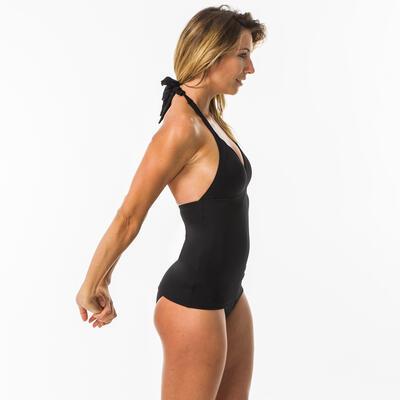 Haut de maillot de bain femme tankini avec coques fixes INES NOIR