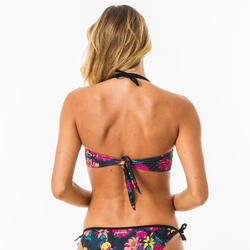 Bandeau swimsuit top LAURA TOMEI with removable padded cups