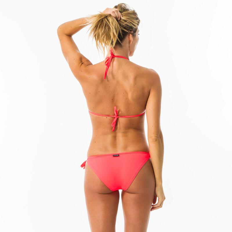 Braguita Bikini Brasileña Surf Mujer Olaian Lazo Lateral Rosa
