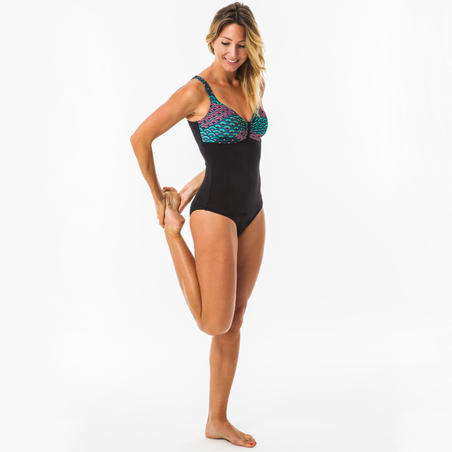 DOLI JIU Women's 1-piece body-sculpting swimsuit