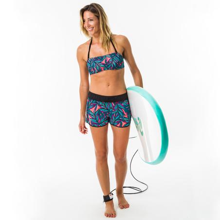 Boardshort surf femme TINI WAKU avec ceinture élastiquée et cordon de serrage