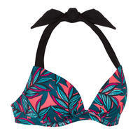 Women's push-up swimsuit top with fixed padded cups ELENA WAKU