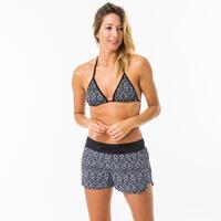 Women's boardshorts with elastic waistband and drawstring TINI ETHNI