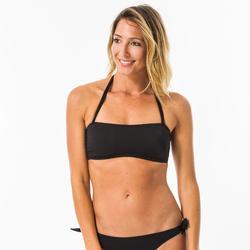 Top bikini Surf Olaian Banda Copas Desmontables Laura Negro