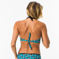 Women's push-up swimsuit top with fixed padded cups ELENA HAZU
