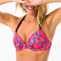 Women's push-up swimsuit top with fixed padded cups ELENA HOSU