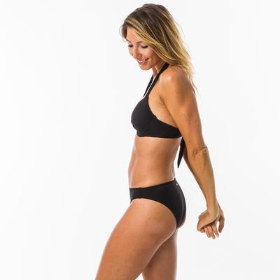 Parte superior bikini Surf Olaian Elena Push Up Mujer Negro