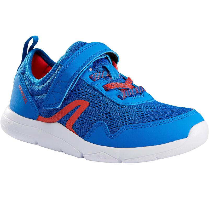 Kinderschoen om te wandelen Actiwalk Super-light blauw / rood