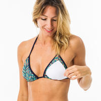 Mae Women's Sliding Triangle Swimsuit Top with Padded Cups - Foly