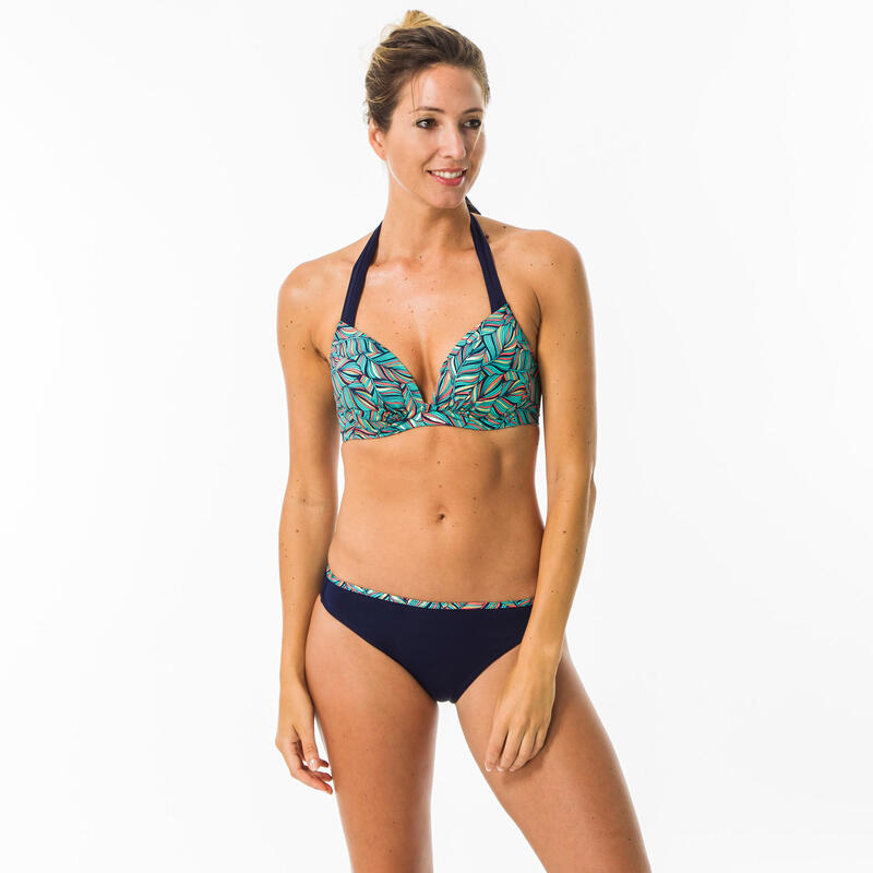 Braguita Bikini Clásica Lisa Surf Mujer Olaian Nina Azul