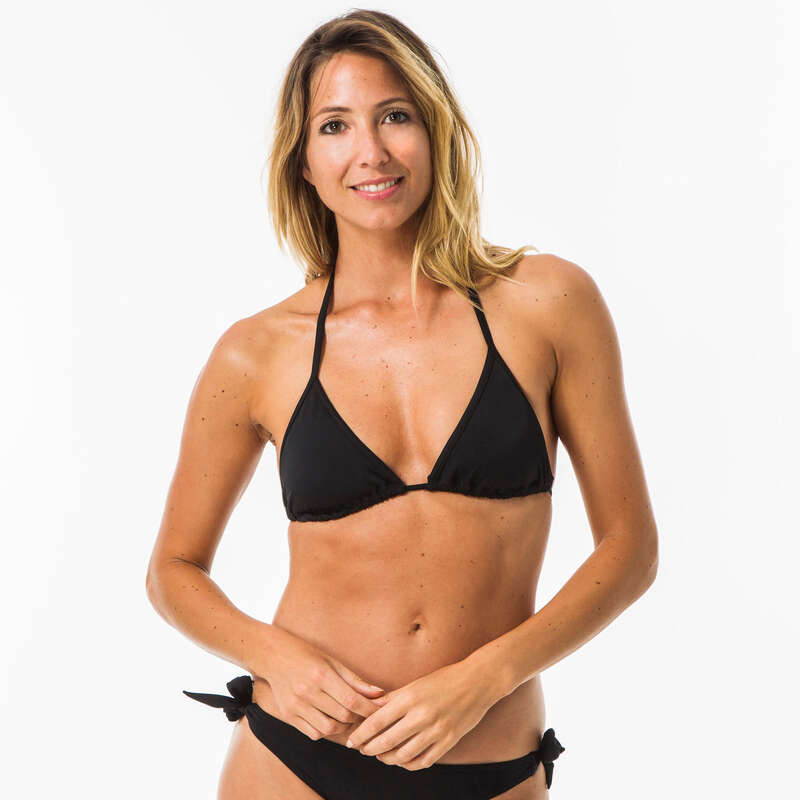 WOMEN BEGINNER SURF SWIMSUIT Surf - MAE TRIANGLE BLACK OLAIAN - Surf Clothing