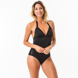 Badpak voor surfen Mae zwart verstelbaar rug- en nekbandje, uitneembare pads