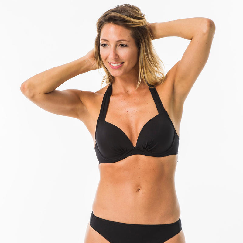 Women's Surf Swimsuit Top - Elena Black