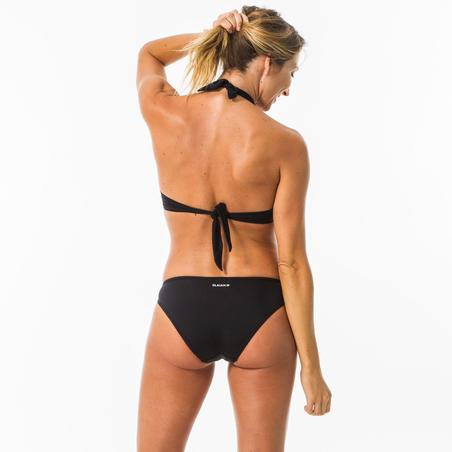 Top bikini Surf Olaian Elena Push Up Negro Mujer