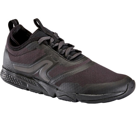 Chaussures marche sportive femme PW 580 WaterResist full noir