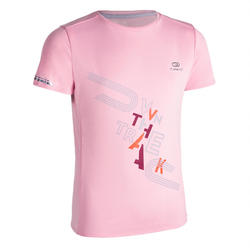 AT 300 KIDS' ATHLETICS T-SHIRT - LIGHT PINK
