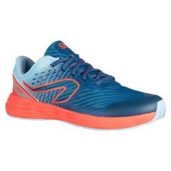 chaussures enfant d'athlétisme AT 500 kiprun fast bleu ciel -rose fluo