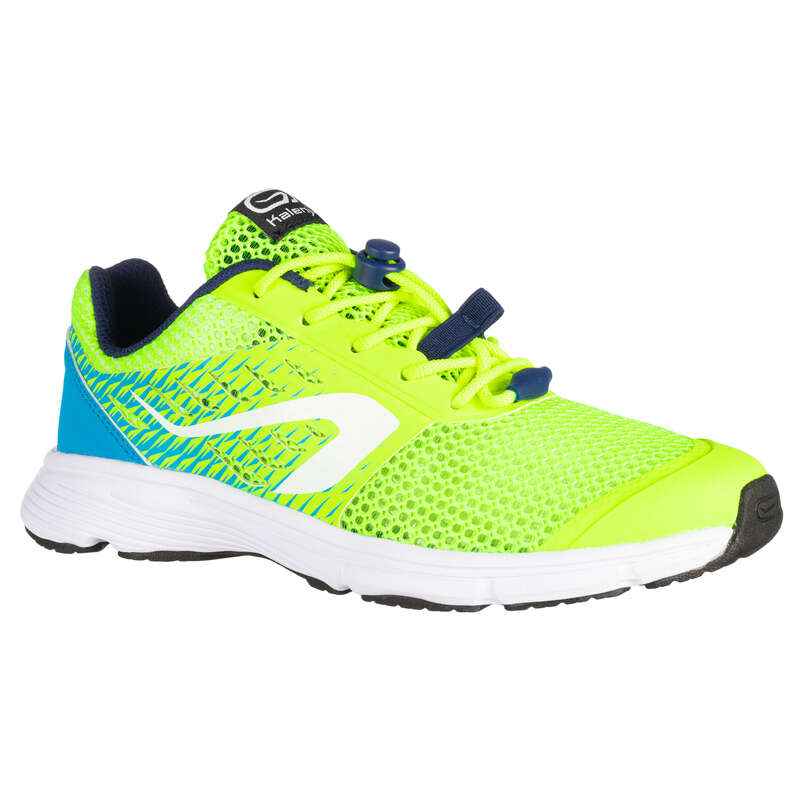 KIDS ATHLETICS SHOES - AT 300 BREATH YELLOW KALENJI