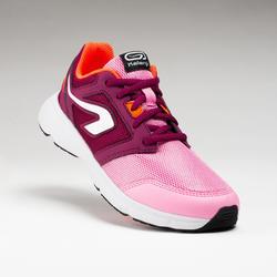 Atletiekschoenen voor kinderen Run Support met veters roze en bordeaux
