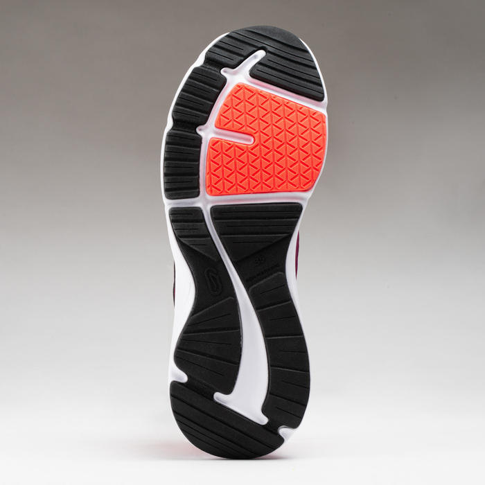 chaussures enfant d'athlétisme Run Support lacet roses et bordeaux