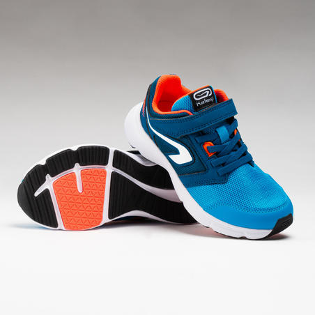 RUN SUPPORT CHILDREN'S RIP-TABS - BLUE/NEON CORAL