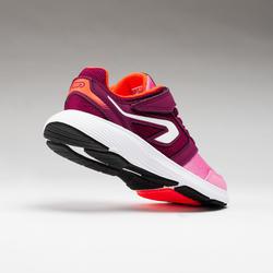 Chaussures enfant d'athlétisme Run Support Scratch roses et bordeaux