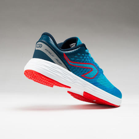 chaussures enfant d'athlétisme AT 500 kiprun fast turquoises rouges